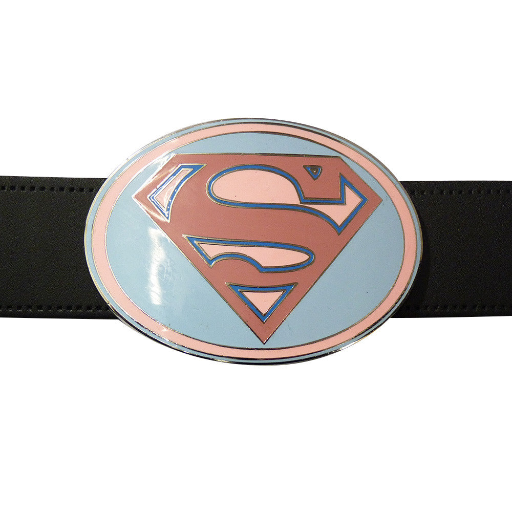 Superman Belt Buckle - Pink Oval - BBT Clothing - 6