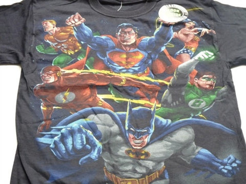 DC Comic T-Shirt - Heroes vs Villains Reversible design