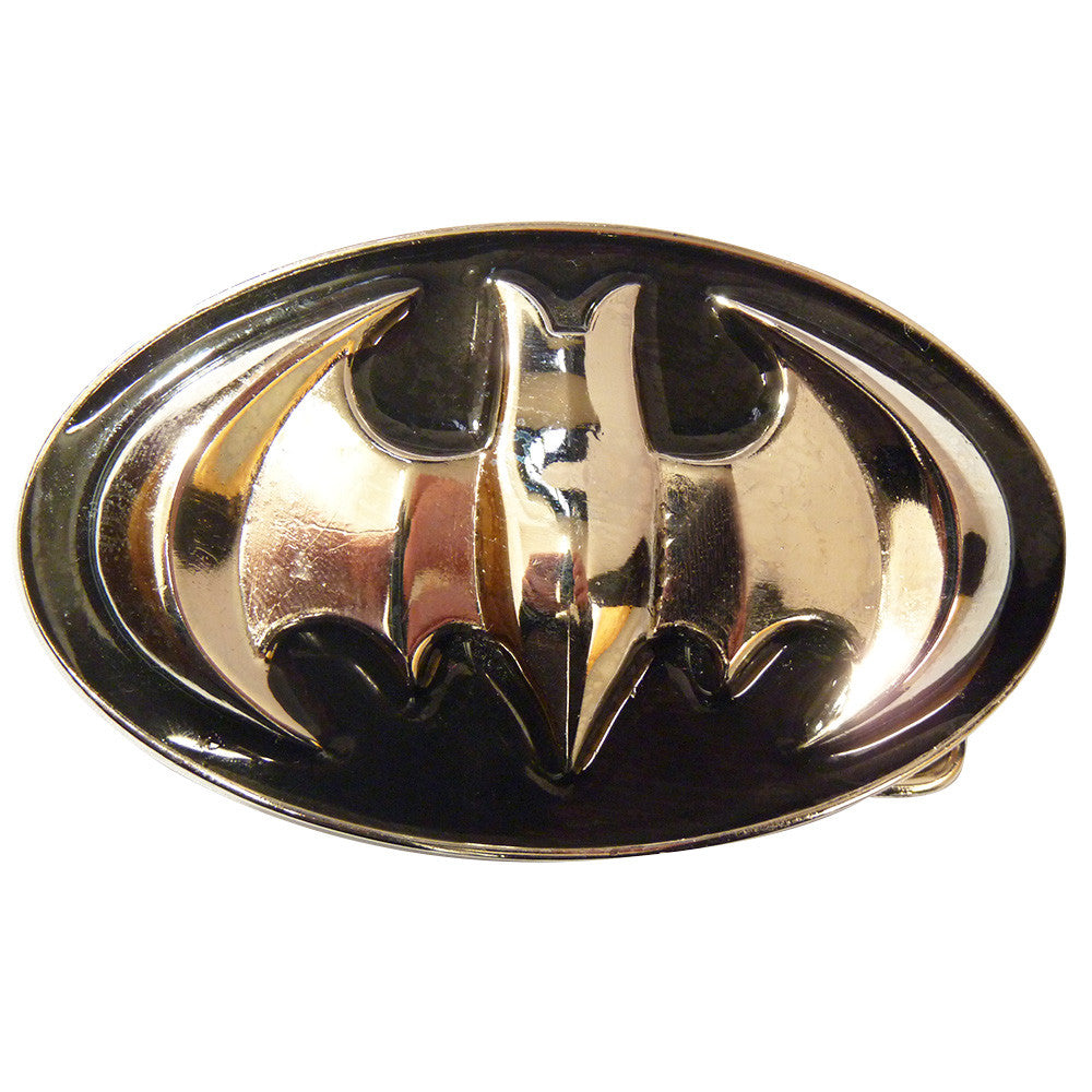 Batman Belt Buckle - 3D black and Chrome - BBT Clothing
