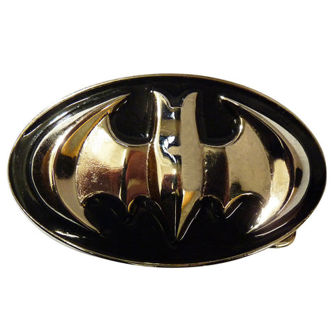 Batman Belt Buckle - 3D black and Chrome