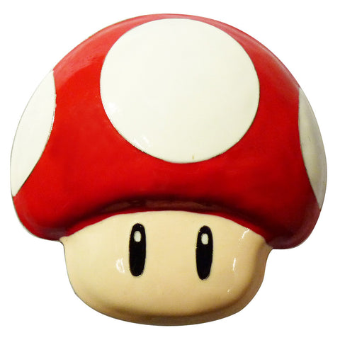 Nintendo Mushroom Belt Buckle - red