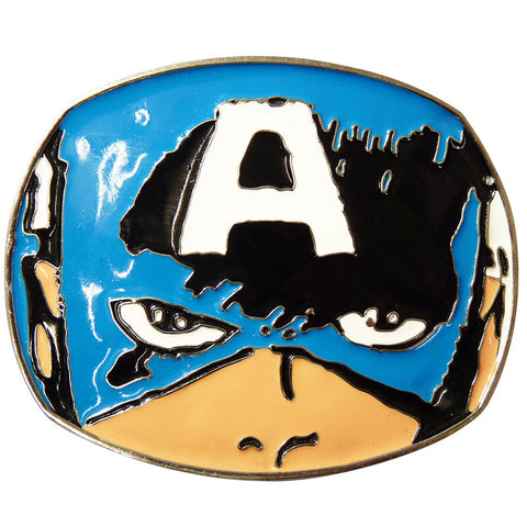 Captain America Belt Buckle - Head