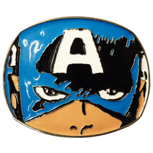 Captain America Belt Buckle - Head - BBT Clothing