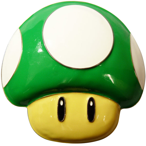 Nintendo Mushroom Belt Buckle - green - BBT Clothing - 1