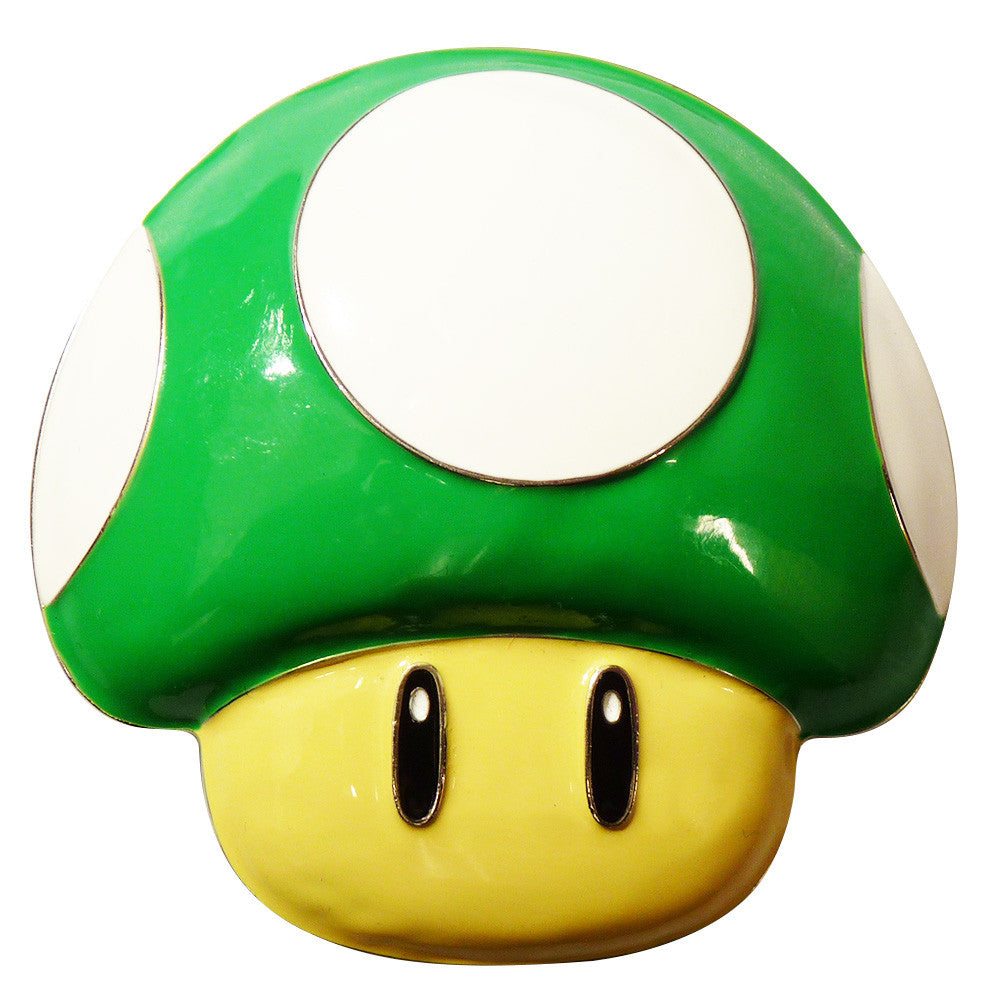 Nintendo Mushroom Belt Buckle - green - BBT Clothing - 2