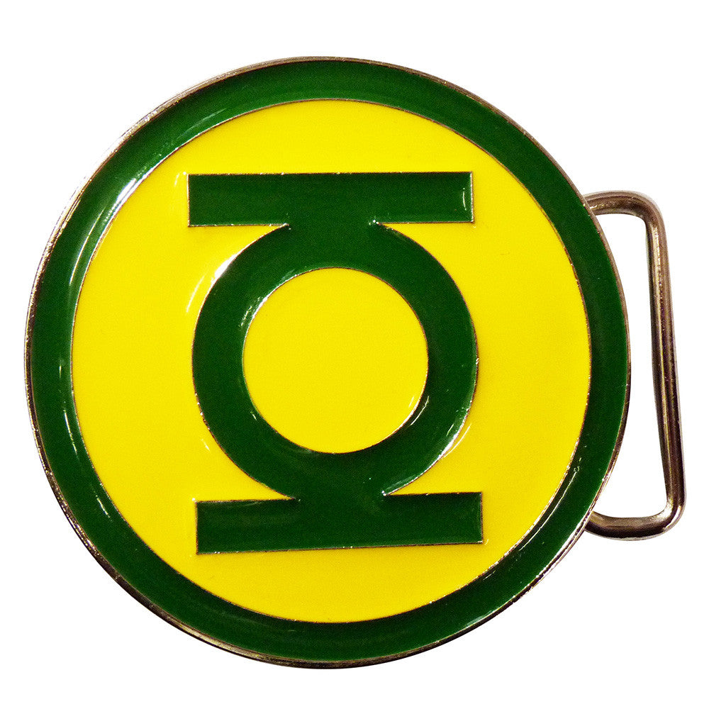Green Lantern Belt Buckle - classic logo - BBT Clothing - 1