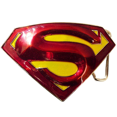 Superman Belt Buckle - 3D Red & Yellow