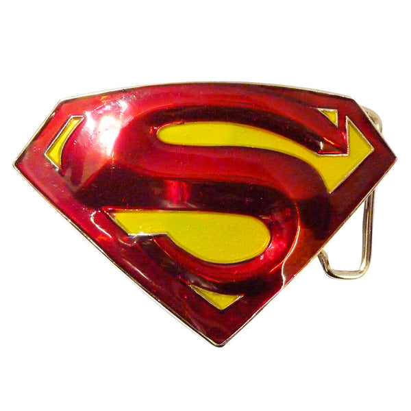 Superman Belt Buckle - 3D Red & Yellow - BBT Clothing - 2