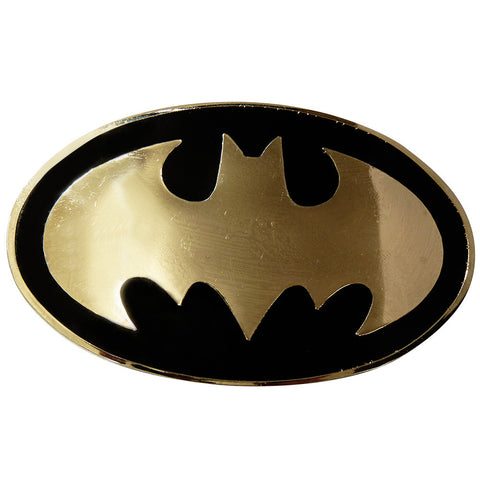 Batman Belt Buckle - Black & Chrome