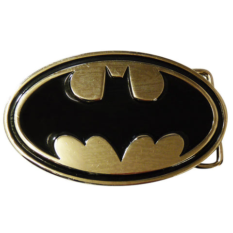 Batman Belt Buckle - Chrome & Black