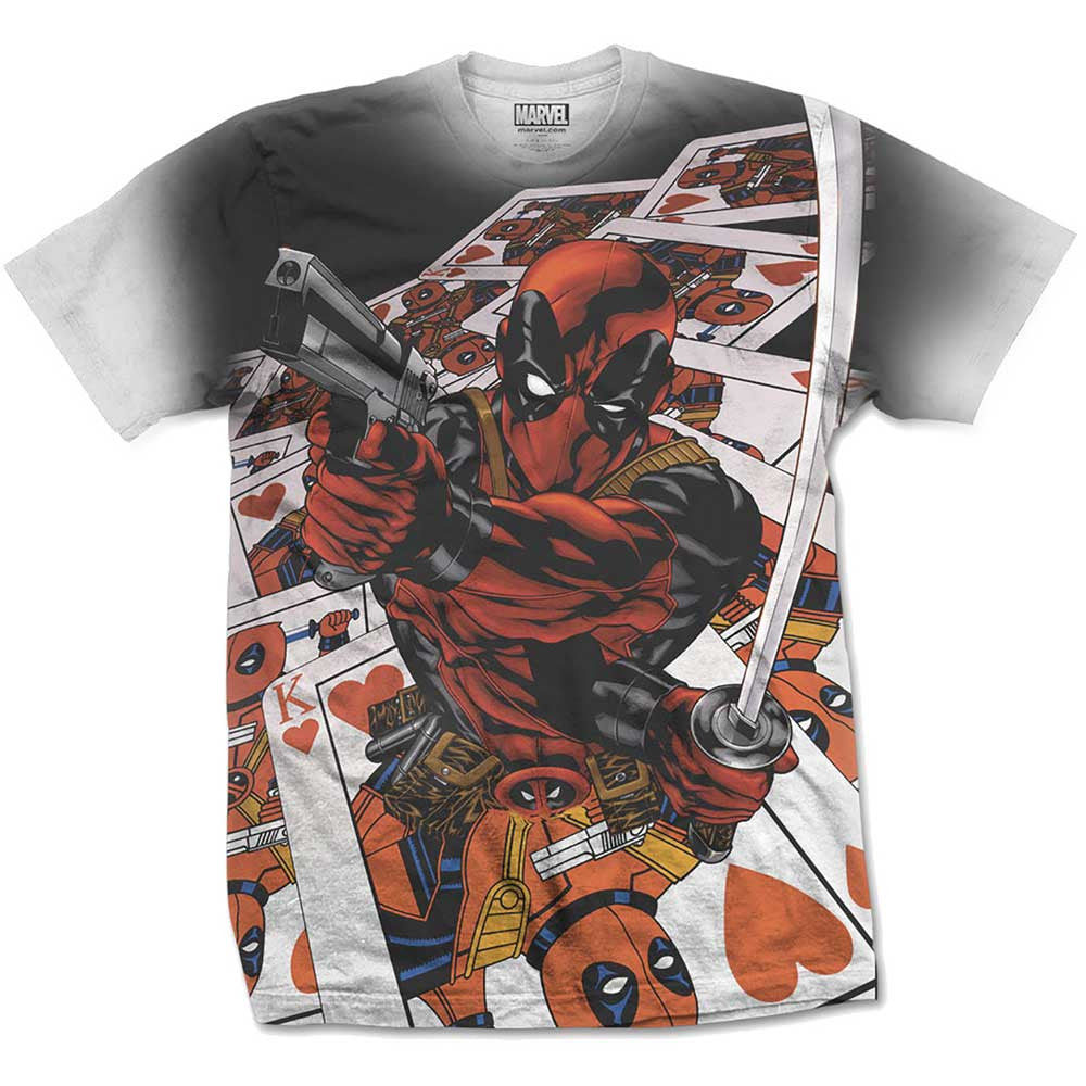 Deadpool T-Shirt - Cards - BBT Clothing