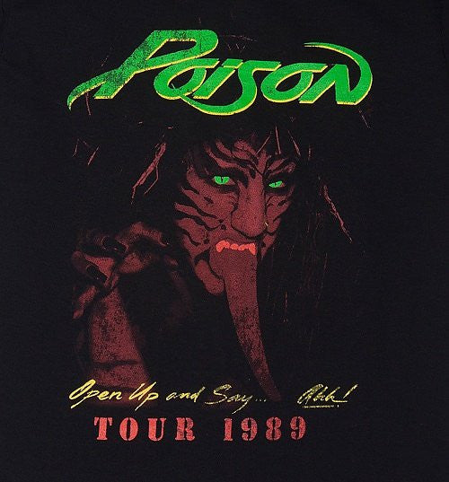 Poison T-shirt - 1989 Tour - BBT Clothing - 2