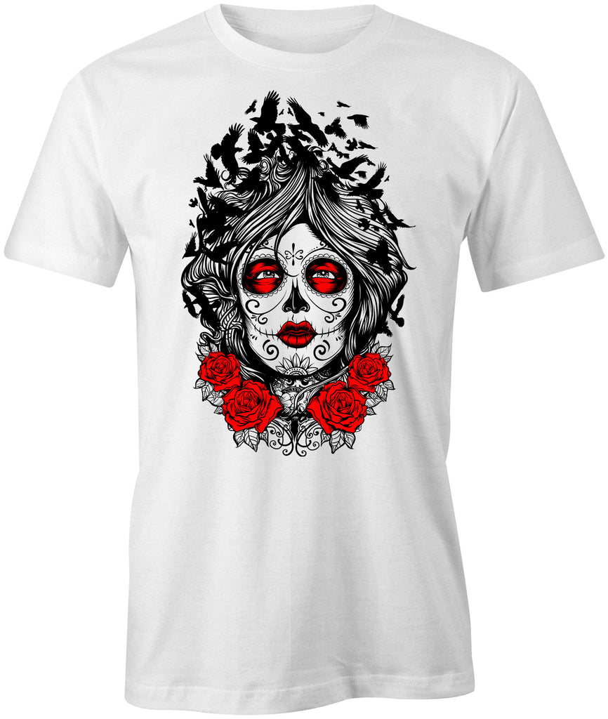 Muerte Lady and Crow T-Shirt - BBT Clothing - 1