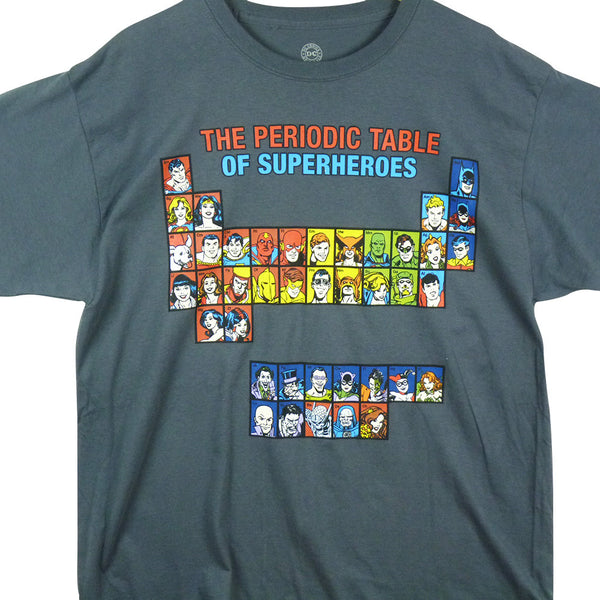 DC Comics T-Shirt - Periodic Table of Superheroes - BBT Clothing - 1