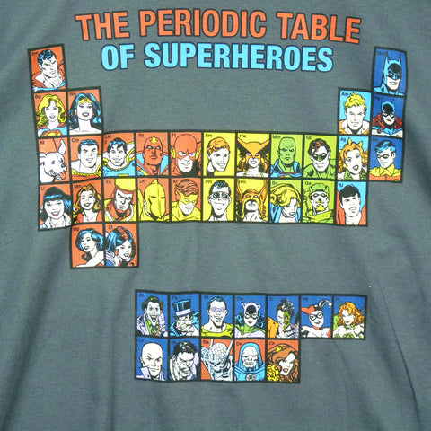 DC Comics T-Shirt - Periodic Table of Superheroes