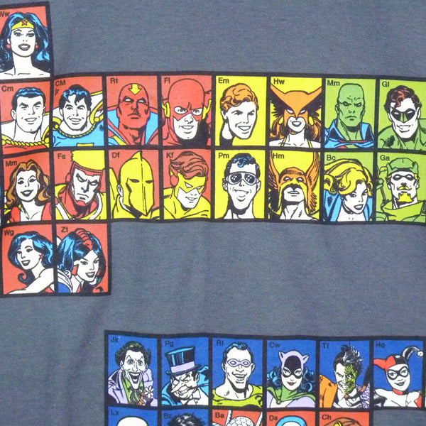 DC Comics T-Shirt - Periodic Table of Superheroes - BBT Clothing - 3