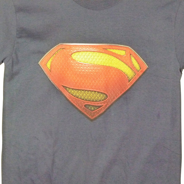 Superman Man Of Steel T-Shirt - Textured Logo - BBT Clothing - 3