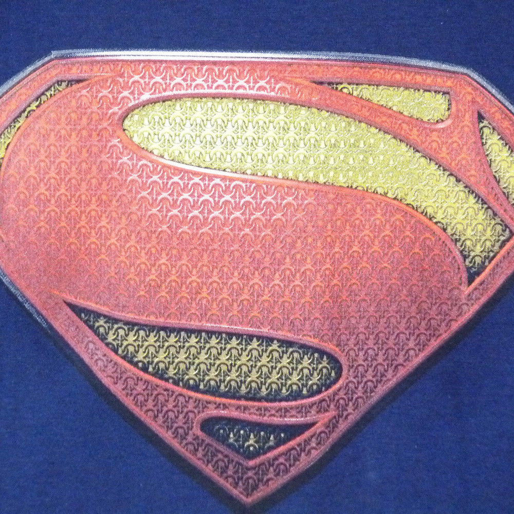 Superman Man Of Steel T-Shirt - Textured Logo - BBT Clothing - 2