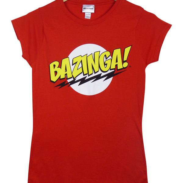 Big Bang Theory T-Shirt - Ladies Bazinga - BBT Clothing