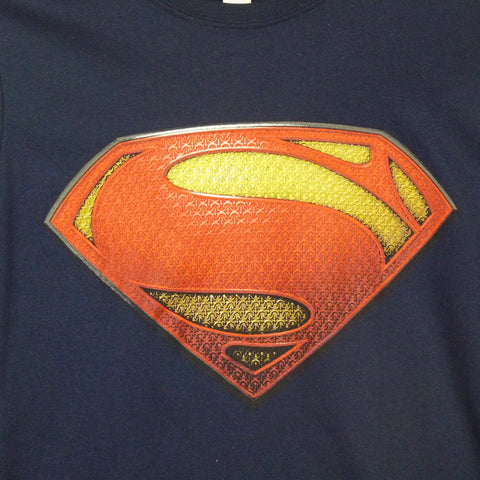 Man Of Steel T-Shirt - Ladies Textured Logo