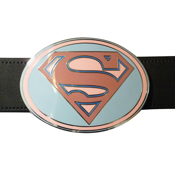 Superman Belt Buckle - Pink Oval - BBT Clothing - 5