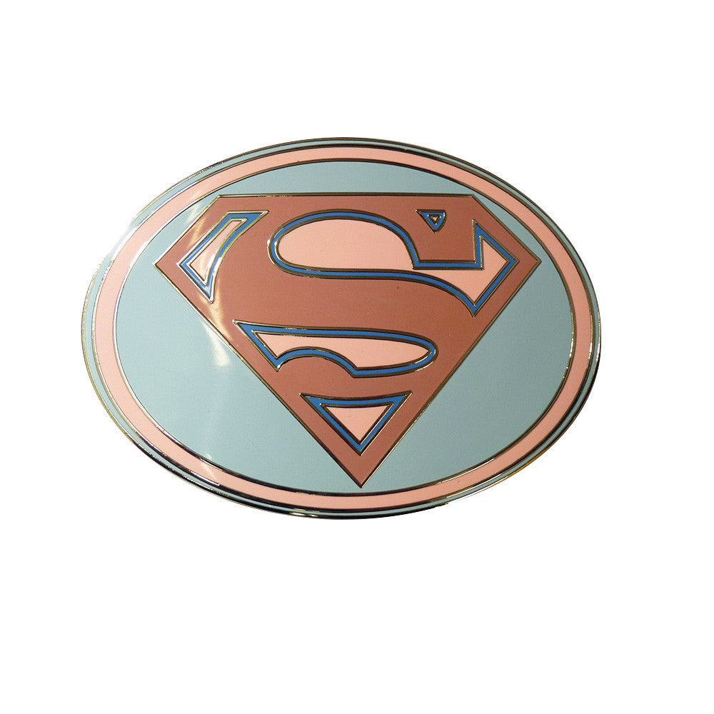 Superman Belt Buckle - Pink Oval - BBT Clothing - 1