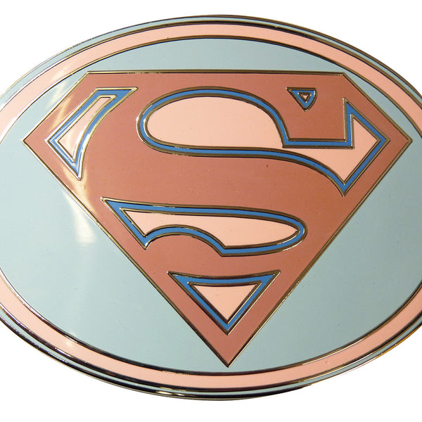 Superman Belt Buckle - Pink Oval - BBT Clothing - 4