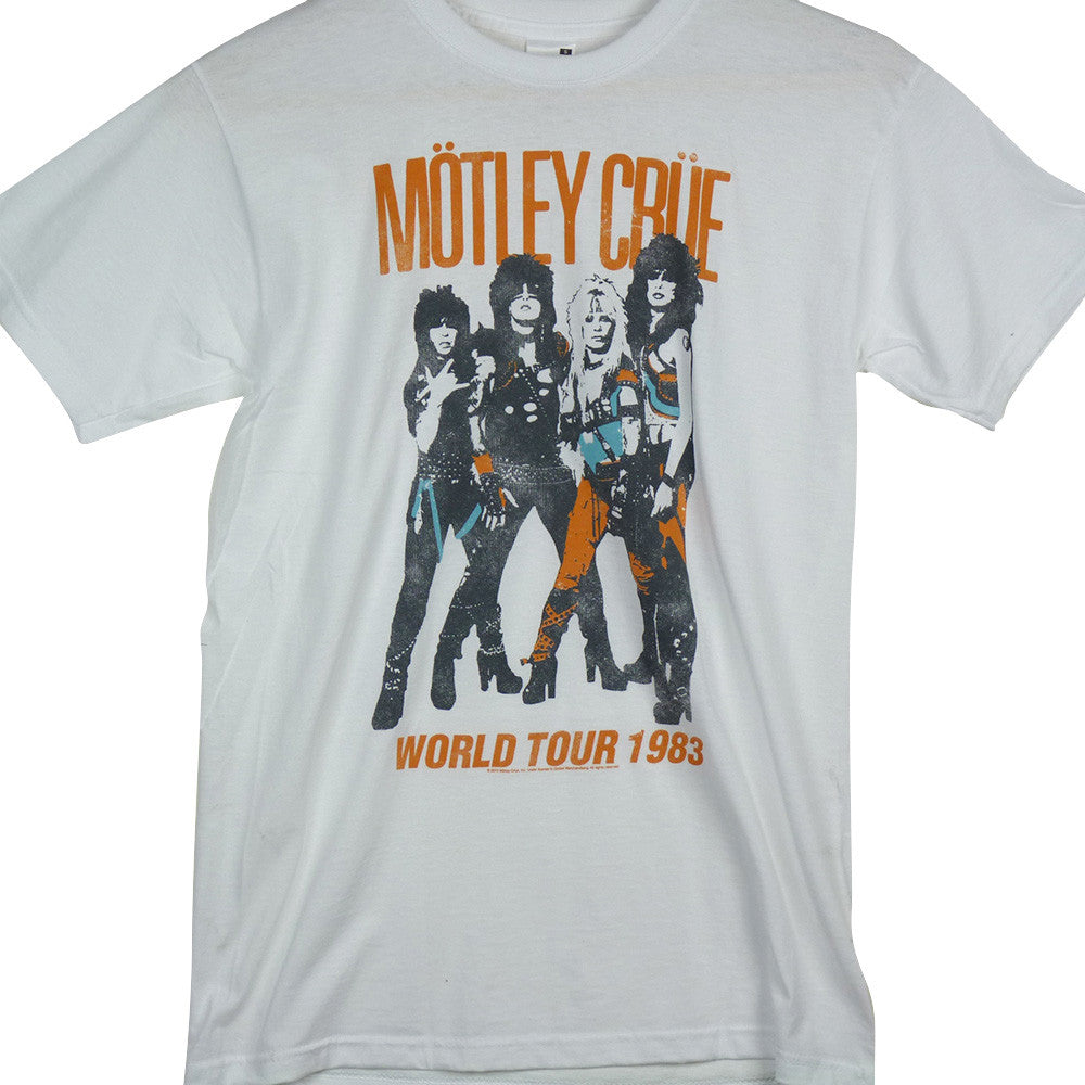 Motley Crue T-Shirt - World Tour White - BBT Clothing - 1