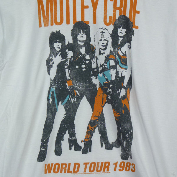 Motley Crue T-Shirt - World Tour White - BBT Clothing - 2