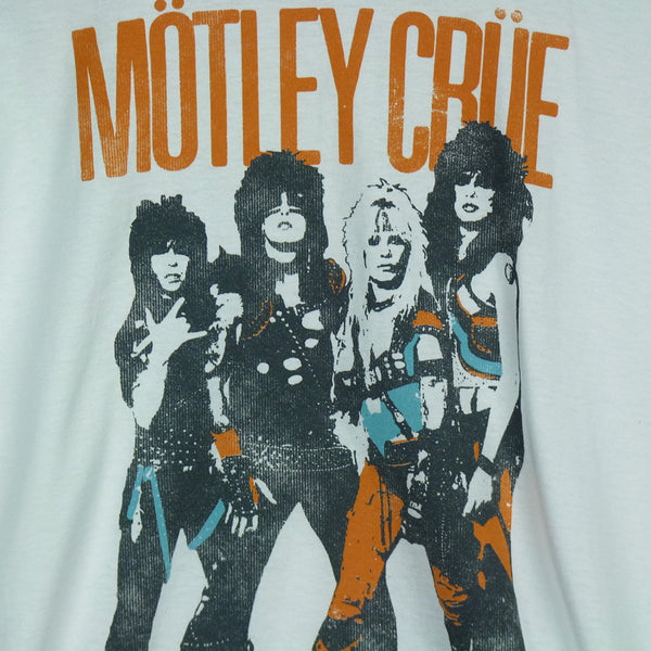Motley Crue T-Shirt - World Tour White - BBT Clothing - 3