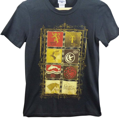 Game of Thrones T-Shirt - House Crests Black