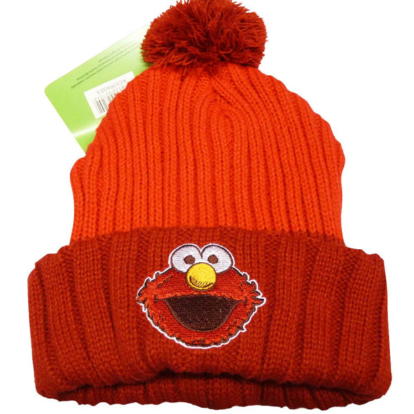 Sesame Street Hat - Elmo Bobble Beanie - BBT Clothing