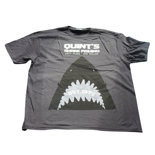 Quints Shark Fishing T-Shirt - Grey - BBT Clothing - 1
