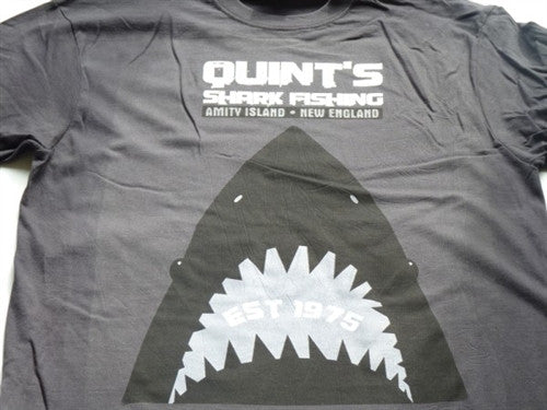 Quints Shark Fishing T-Shirt - Grey - BBT Clothing - 2