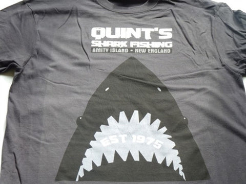 Quints Shark Fishing T-Shirt - Grey