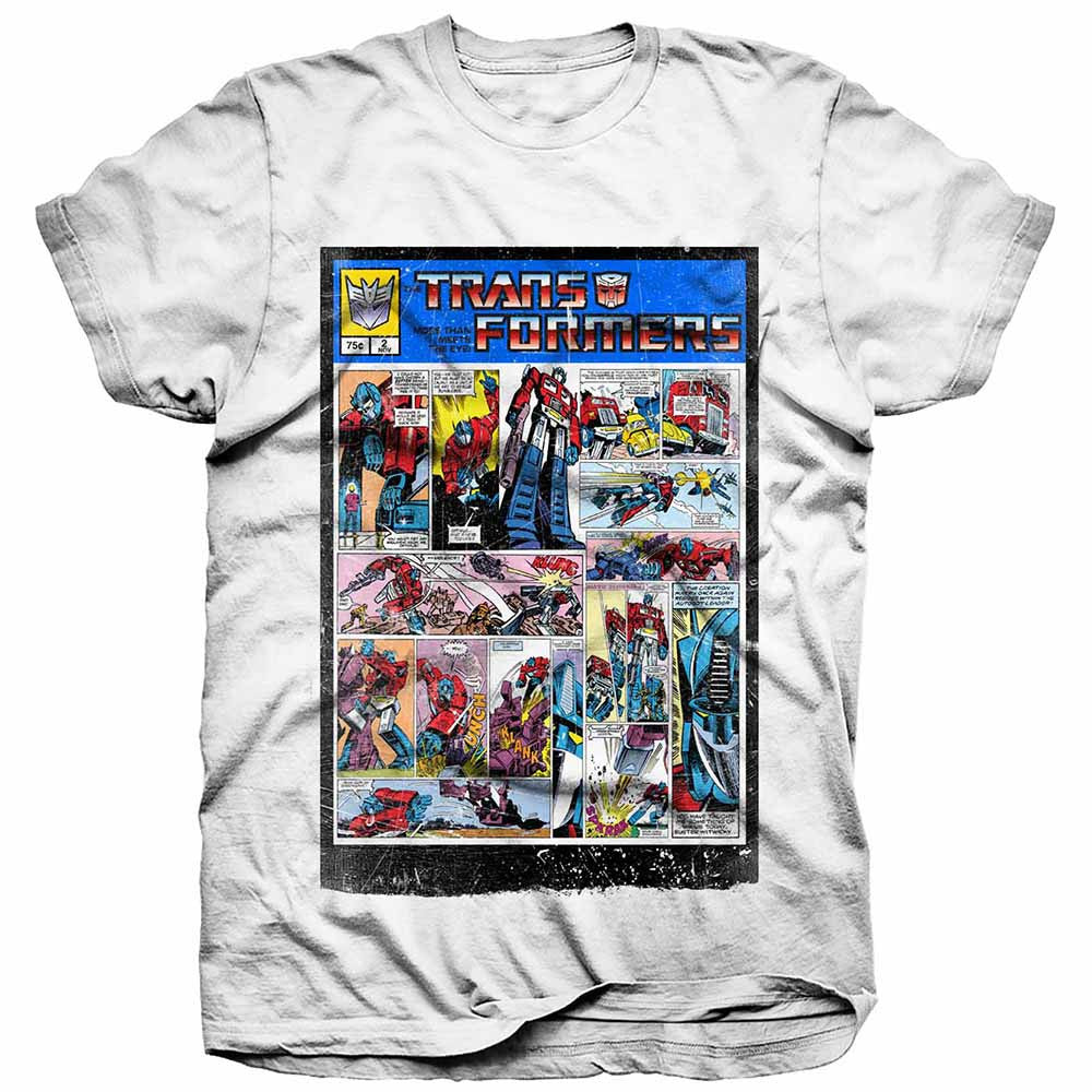 Transformers T-Shirt - Comic Strip - BBT Clothing
