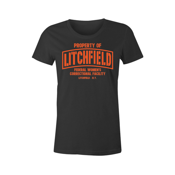 Property of Litchfield Correctional Facility T-Shirt - BBT Clothing - 1