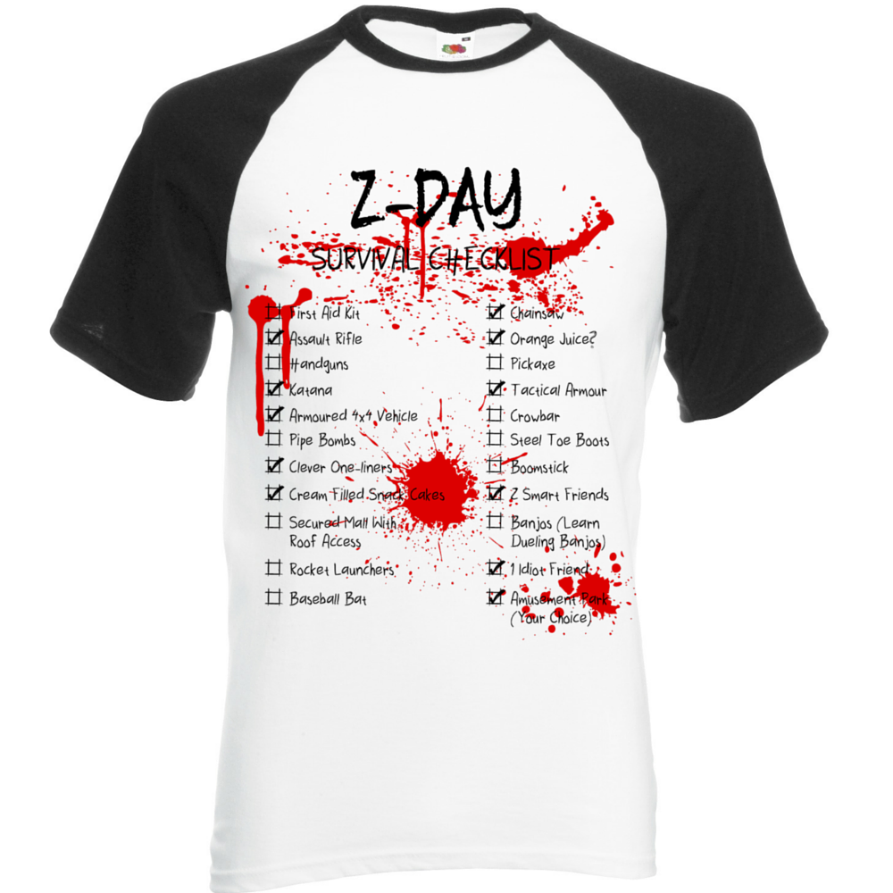 Z-Day Checklist T-Shirt - BBT Clothing - 1