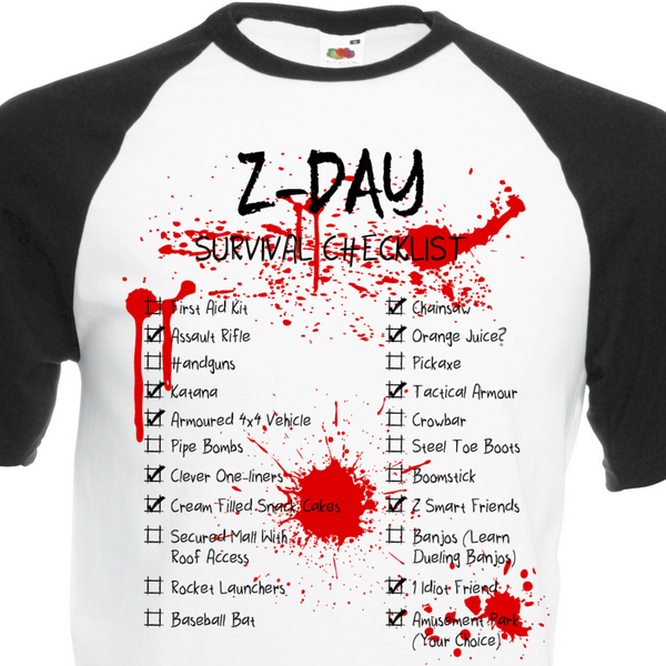Z-Day Checklist T-Shirt - BBT Clothing - 2