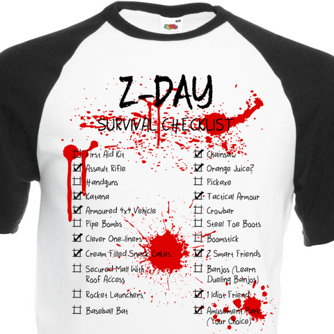 Z-Day Checklist T-Shirt