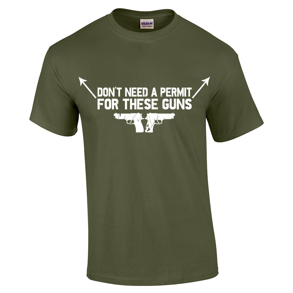 Don't need a permit for these guns T-Shirt - BBT Clothing - 8