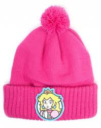 Nintendo Hat - Princess Peaches Bobble Beanie - BBT Clothing