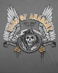 Sons Of Anarchy T-Shirt - Winged Logo - BBT Clothing - 2