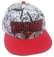 Superman Hat - Comic Red - BBT Clothing