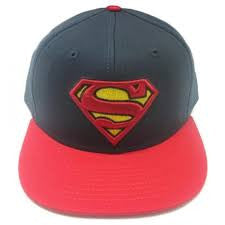 Superman Hat - Classic Logo with Red Bill - BBT Clothing