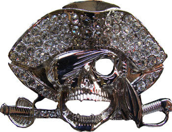 Pirate Belt Buckle - Rhinestone - BBT Clothing