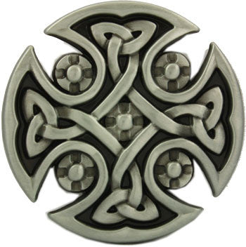 Celtic Cross Belt Buckle - Round Design