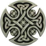 Celtic Cross Belt Buckle - Round Design - BBT Clothing