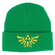 Nintendo Hat  - Zelda Tri Force Green Beanie - BBT Clothing