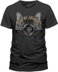 Sons Of Anarchy T-Shirt - Winged Logo - BBT Clothing - 1